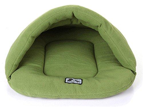 thematys Colchoneta Material de Felpa Cama de Almohada Lavable y Resistente a los arañazos para Perros y Gatos (XS, Verde)