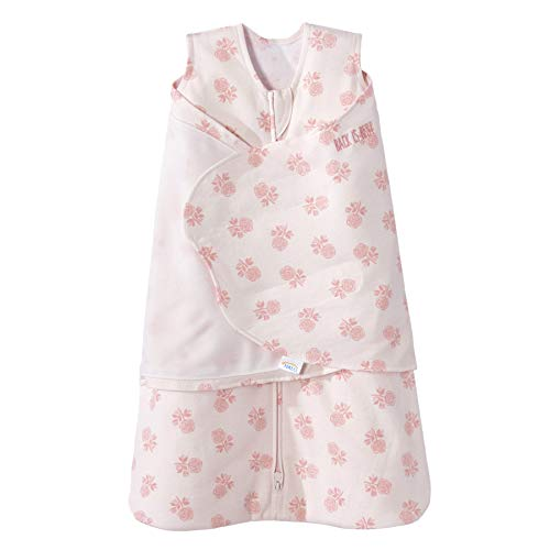 Halo Innovations HALO SleepSack Swaddle Cotton Watercolor Rose Toss Blush, Size SM, Small