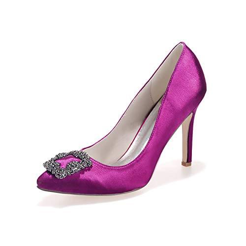LGYKUMEG Schuhe Damen Pumps,Hochzeitsschuhe weiß, Spitz Sandalen Kitten Absatz Pointed Toe Pumps,Damen Schuhe elegant flach,11,EU36
