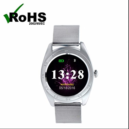 Braccialetto Fitness con Touchscreen Colori Fitness Tracker con Cardiofrequenzimetro da Polso Contapassi Braccialetto Pedometro per Smartphone iOS Android con Sensore per Battito Cardiaco/Sonno Monitoraggio