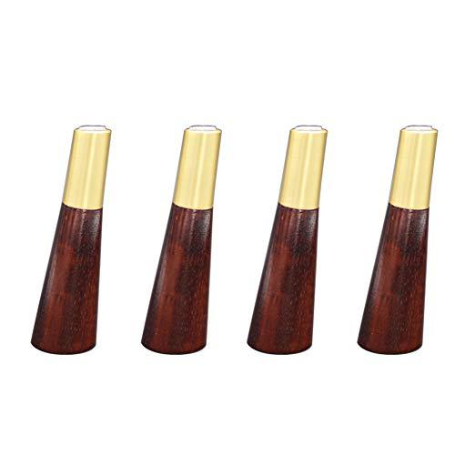 Massivholzmöbelbeine x4 Möbelersatzfüße Schrankfüße Geeignet für Sofas, Betten, Montageschrauben und Antirutschmatten/C / 12cm