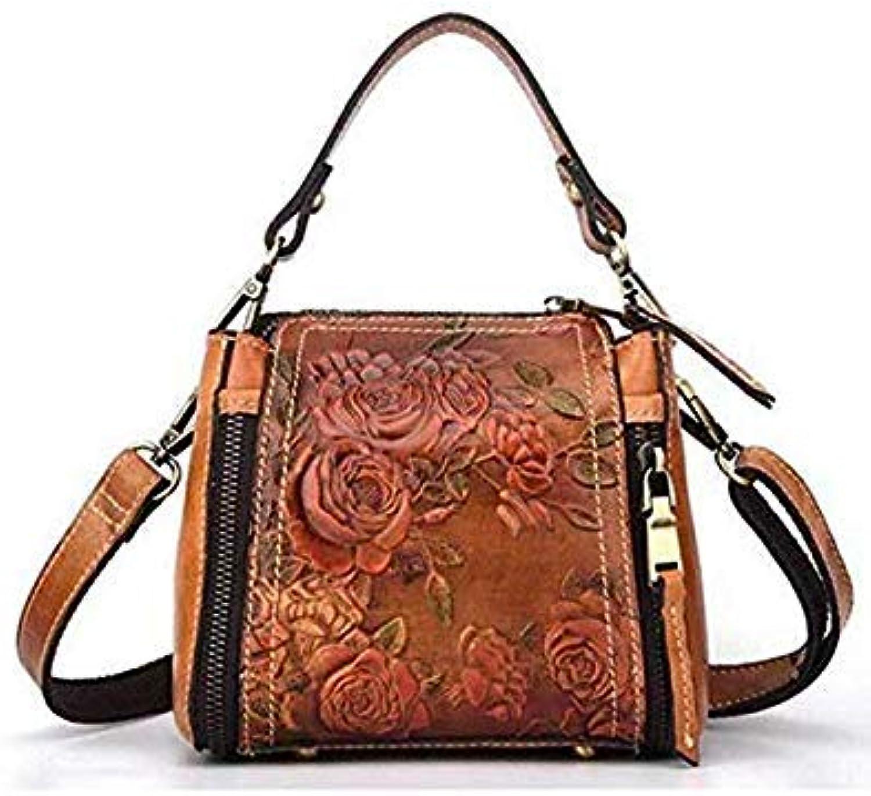 ed9eb54e38d3 New high Quality Embossed Women Cross Body Tote Handbag Luxury Flower  Female Messenger Shoulder Bag Genuine