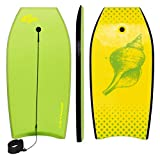Goplus 41 inch Super Bodyboard Body Board EPS Core, IXPE Deck, HDPE Slick Bottom with...