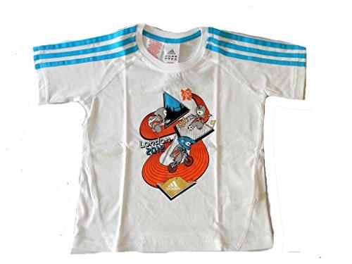 Adidas M.SP. Tee kinderen T-shirt wit katoen nieuw maat 110.