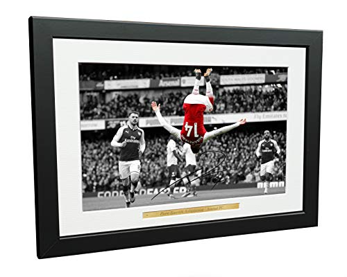 12x8 A4 Signed The Backflip Pierre-Emerick Aubameyang Arsenal FC Autographed Photo Photograph Picture Frame Football Soccer Poster Gift Categories Dining Features Kitchen