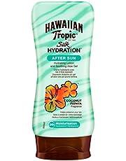 Hawaiian Tropic Silk Hydration After Sun Lotion, Y00622A0, 180 Ml, Per Stuk Verpakt (1 X 180 Ml), Groen