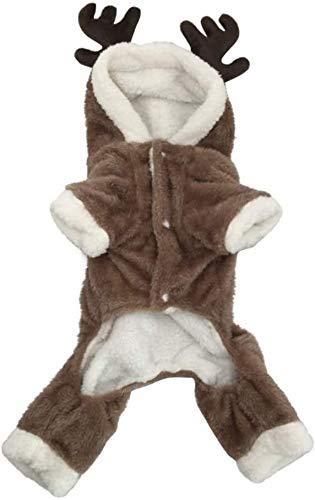 GPFFACAI hondentrui Herfst Winter Huisdier Warme jas Kerst Hond Jumpsuit Puppy Jas Festival Feestkleding Huisdieren benodigdheden (Kleur: Zoals afgebeeld, Maat: Groot)