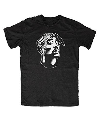 Tupac T-Shirt (M, Schwarz)
