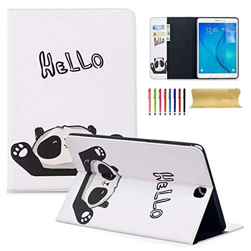 Dteck Schutzhülle für Kindle Paperwhite 3 / 2 / 1, dünnes PU-Leder, mit Standfunktion, 15,2 cm (6 Zoll) (alle Modelle 2012 2013 2014 2015 und 2016) #3 Hello Panda