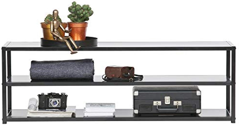 De Eekhoorn TV Mbel TEUN 120 cm Lowboard Kommode Board Regal Beistelltisch Metall schwarz