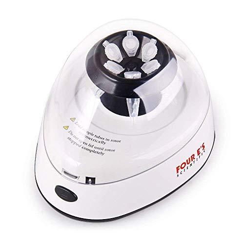 Four Es Scientific Mini Elettrica Centrifuga da Laboratorio Medico fissa 5400 RPM 2000xg banco Rotori a 2 da 0,2ml, 0,5ml, 1,5ml, 2,0ml, Rotore a 8 Posizioni per Provette/Strisce PCR da 0,2 ml