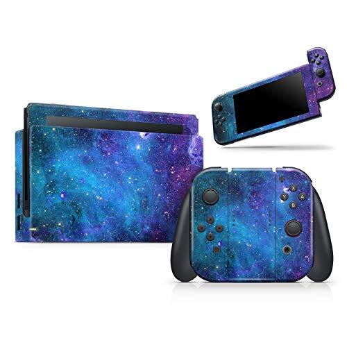 Azure Nebula – Skin Decal Vinyl Full Body Wrap Kit kompatibel mit Nintendo Switch Pro Controller (Nintendo Switch Pro Controller nicht enthalten)