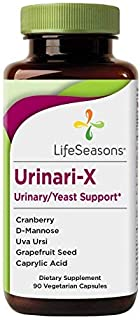 Life Seasons - Urinari-X - Natural UTI and Yeast Infection Support Supplement - Aids The Urinary Tract - Urinary/Yeast Support - Contains Uva Ursi, Cranberry and D-Mannose (90 Capsules)
