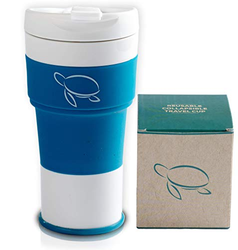 IMPACT Premium Collapsible Coffee Cup – Contribute to Cleaner Oceans with this Reusable...