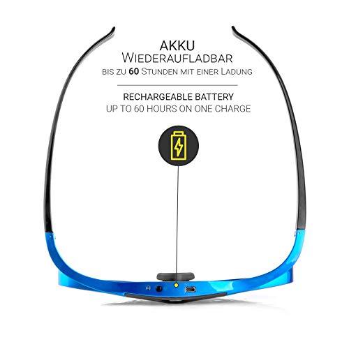Hi-SHOCK DLP Pro Blue Heaven   DLP Link 3D Brille für 3D DLP Beamer von Acer, BenQ, Largo, Optoma, Viewsonic, LG [Shutterbrille   96-144 Hz   wiederaufladbar   32g   DLP Link   Blau]