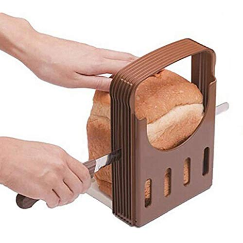 Romote 1pc Brotschneidemaschine Toast Fräsvorsatz Brot Toast Slicer Sandwich-Hersteller-Werkzeug Folding Und Adjustable Brotschneidemaschine Nützliche Küchenhelfer