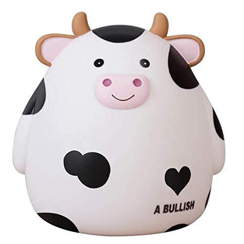 Dcolor Tirelire, Jolie Tirelire de Vache pour Gar?Ons et Filles, Tirelire Incassable pour Enfants, Meilleur Anniversaire pour Enfants, Blanc