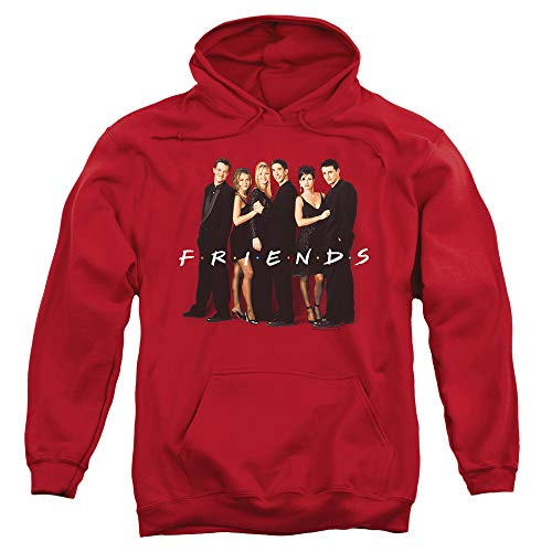 Popfunk Friends TV Show Central Perk & Cast Logo Pullover Hoodie Sweatshirt & Stickers (Large)