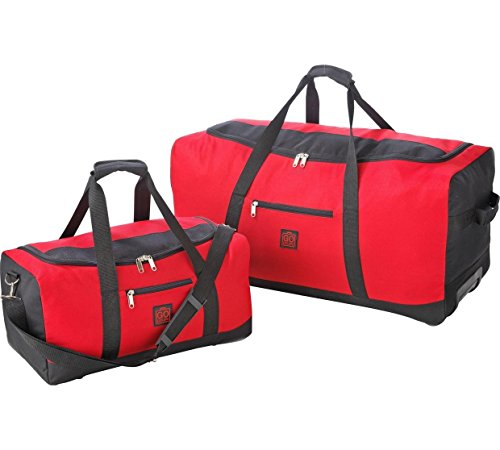 Go Explore 2 Piece Holdall Set - Red, This cabin friendly luggage set is ideal for weekends and short breaks, or those who like to travel light.