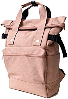 WUXiaodanDan Men and Women's Multifunctional Limited Edition Hemp Polyester Travel Mountaineering Bag Shoulder Bag Backpack (Color : Pink)