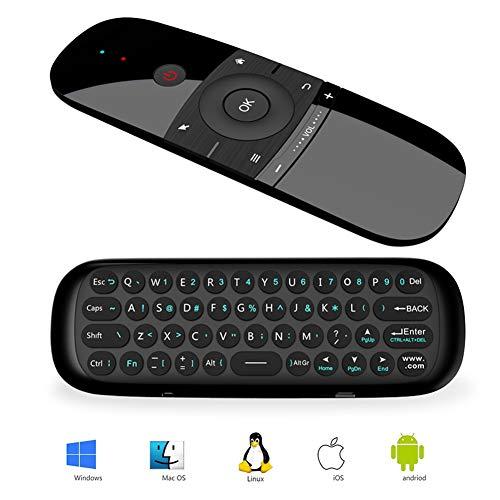 Telecomando Air Mouse, Runsnail Telecomando Senza Fili con Funzione Mouse e Tastiera per Android TV Box, Smart TV, Computer, Portatile, Proiettore, HTPC, Media Player