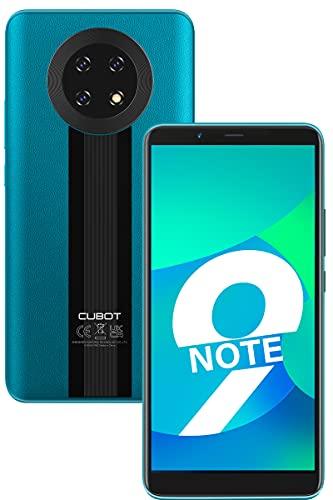 CUBOT Smartphone Note 9 sin Contrato, teléfono móvil 4G Android 11, Pantalla HD de 5,99 Pulgadas, batería de 5900 mAh, Tres cámaras, 3 GB + 32 GB, 128 GB Ampliable, Dual SIM, Face ID, Verde