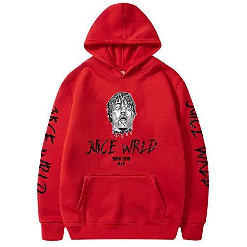 Sudadera con capucha para hombre y sudadera estampada Hombre Rojo