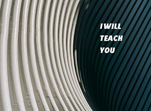 """I WILL TEACH YOU: 6"""" x 9"""", 120 College Ruled Pages. ✓ Portable size for School, College, Work or Home. ✓ Great Gift for the Holidays for Coworkers, Friends, and Family. (English Edition)"""