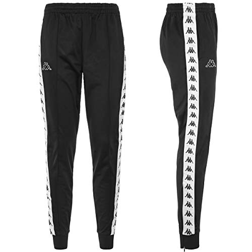 Kappa - Rastoria Slim Authentic - Pantaloni unisex Nero Bianco L