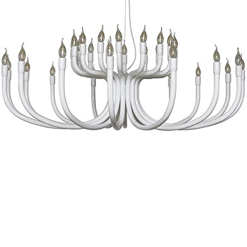 Karman Snoob lampadario con 32 sorgenti luminose bianco