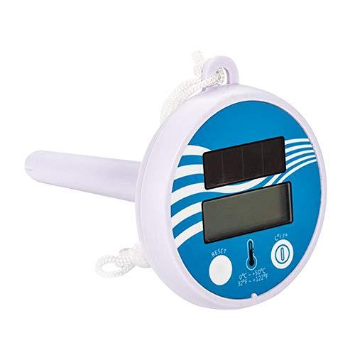 Solar Pool Digital Thermometer, Solar Power Schwimmbad Thermometer Digital Swimming Pool SPA Schwimmthermometer