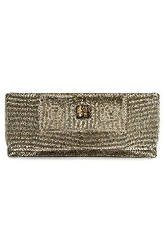MyBatua Mia Argent perlé d'embrayage sac à main Pochettes pour dames ACP-389