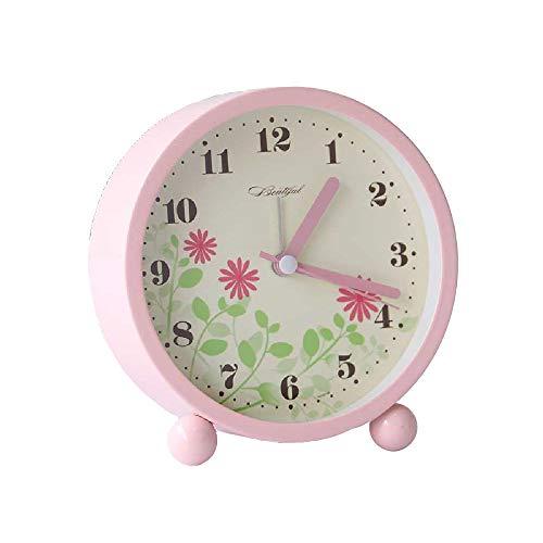 XU-Alarm clock Multi-Fonction LED Veilleuse Réveil Mignon Dessin Animé Mode Créatif Muet Veilleuse éTudiant avec Réveil à La Maison Lit Chambre Simple éLectronique Petite Table Rose G