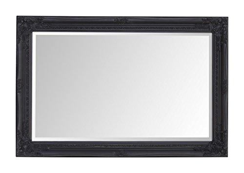 Select Spiegel Rhone Wandspiegel–French Vintage, Rokoko Barock Stil–Schwarz–60cm x 90cm–Shabby Chic Home Decor von