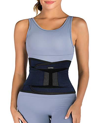 SHAPERX Damen Waist Trainer Bauchweggürtel Atmungsaktiv Sport Waist Cincher Unterbrust Fitness Taillengürtel Gewichtsverlust,UK-DT8009-Blue-S