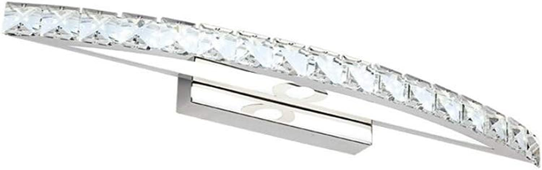 SXFYWYM LED Mirror Light Crystal Waterproof Anti Fog Simple Luxury Bathroom Edelstahl-Spiegelkabinettslicht Leuchten,70cmWeiß,B
