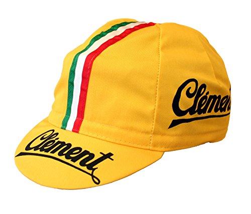 Clement Radmütze Cap Rennmütze Retro Mütze (gelb)