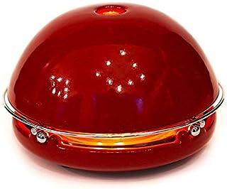 Egloo Rojo esmaltado - Gadget multiusos calefactor bajo consumo, difusor de aromas, humificadores aromaterapia,purificador de aire,lampara de mesa,accesorios para el hogar.Cosas de casa y de cocina
