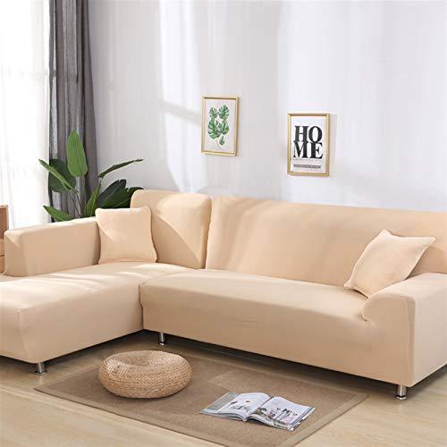 Einfach zu installierender und bequemer Sofa Sofa-Cover, Ecke Schwarzes Sofa-Abdeckungen Set Solide Farbe für Wohnzimmer Elastische Spandex-Slipcover Couch Cover Stretch Sofa Handtuch L Form Sofa