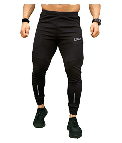 FINZ Trackpants Sports Wear for Men, Joggers for Men, Trackpant with 2 Side Zipper Pocket for Sports Gym Workout Running Yoga