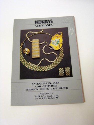 Henrys Auktionskatalog Januar 1992