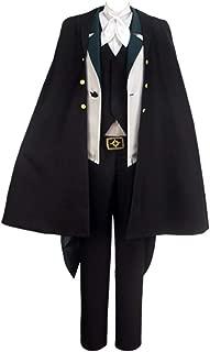 Bungo Stray Dogs Season 2 Edgar Allan Poe Cosplay Costume Halloween Overcoat with hat