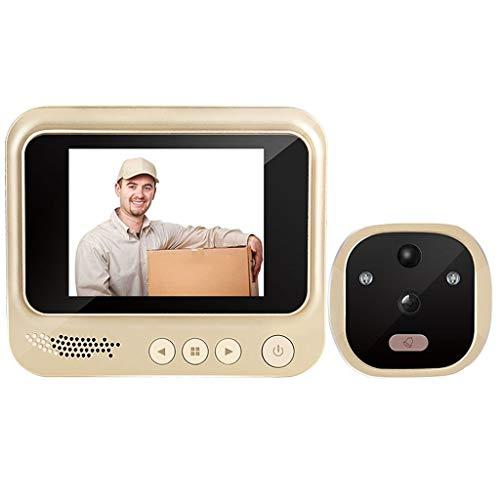 YIXIN2013SHOP Timbre Inalámbrico Timbre electrónico Inteligente de Distancia Cero Visible Cat Eye Doorbell Home Cámara Espejo de Puerta con visión Nocturna Timbre Impermeable