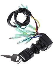 B Blesiya Caja de Control de Fueraborda Motor Repuesto Llave de Interruptor Soportes para Motores