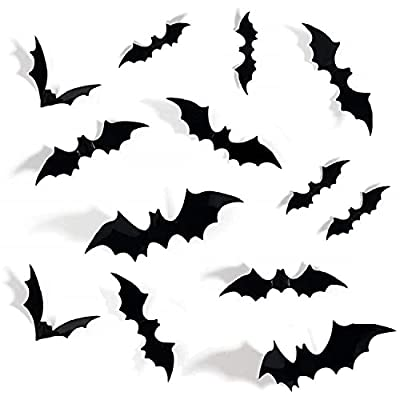 Amazon - 70% Off on 72PCS Halloween 3D Bats Decoration, DIY Scary Wall Bats Wall Decal Wall Stickers