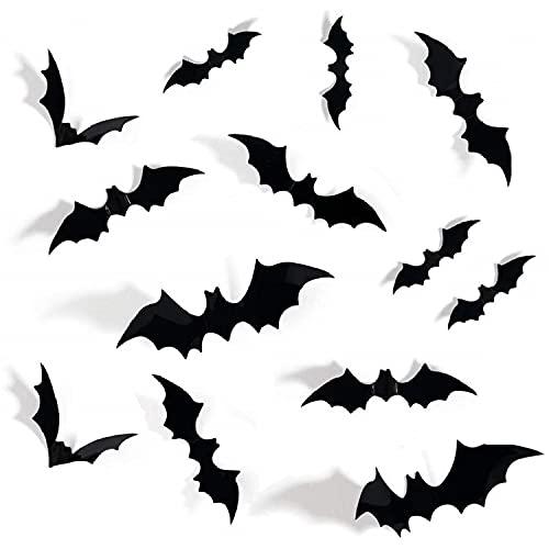 72PCS Halloween 3D Bats Decoration,…