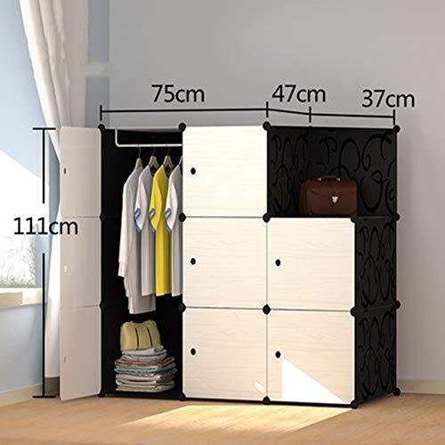 E-KIA Kleiderschrank Schrank Schlafzimmerschrank,Einfach Aufgebauter Moderner Schrank, Garderobenschrank,111 * 75 * 47