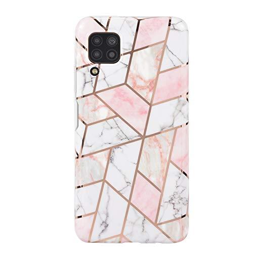 Funda para teléfono móvil Huawei P40 Lite, de silicona TPU, suave, fina, antiarañazos, flexible, mate, diseño de mármol, funda para Huawei P40 Lite – 7