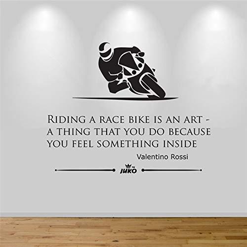 Pegatinas De Pared De Motocicleta Pegatinas De Pared De Moda Moderna Decoración Del Hogar Dibujos Animados Extraíbles Arte De La Vida Decoración Pegatinas De Pared 58X47Cm