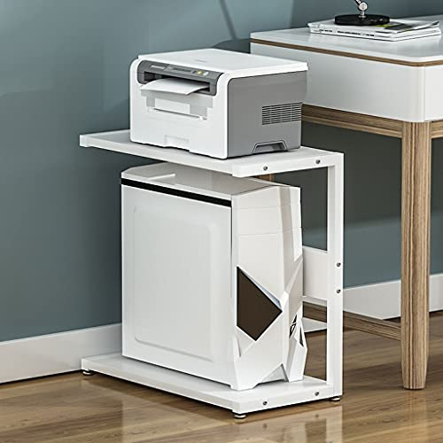 Printer Stand Simple Printer Rack Multi-Layer Computer Mainframe CPU Bracket Under The Table Shelf Home Desktop Printer Storage Rack Under Desk Printer Stand (Color : D, Size : H65cm)